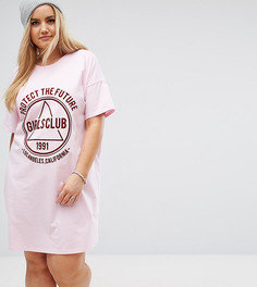 Платье-футболка с принтом Girls Club ASOS CURVE - Мульти