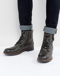 Черные кожаные ботинки Steve Madden Prive - Черный
