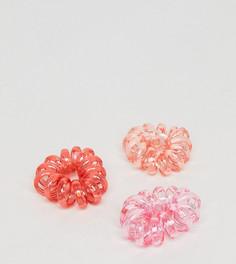 Набор из 3 резинок-спиралек для волос ASOS - Мульти