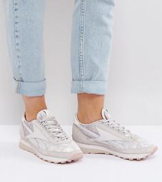 Сиреневые кроссовки из бархата Reebok Classic - Фиолетовый