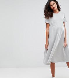 Свободное платье миди ASOS Maternity Ultimate - Серый