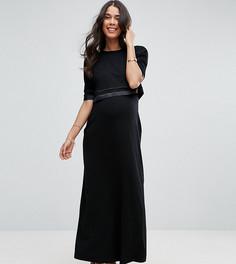 Двухслойное платье макси ASOS Maternity PETITE NURSING - Черный