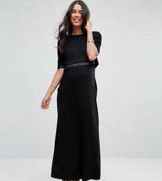 Двухслойное платье макси ASOS Maternity TALL NURSING - Черный