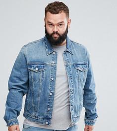 Светлая джинсовая куртка ASOS PLUS - Синий