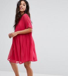 Свободное платье из дышащей ткани ASOS Maternity - Красный