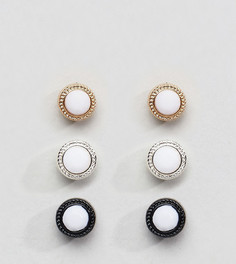 Комплект серьг с камнями Chained & Able - Белый