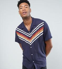 Рубашка классического кроя с отложным воротником ASOS TALL - Темно-синий