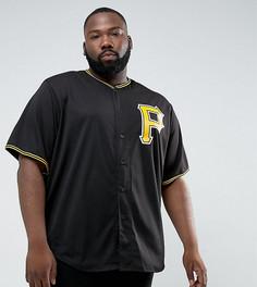 Черный бейсбольный топ Majestic PLUS MLB Pittsburgh Pirates Replica - Черный