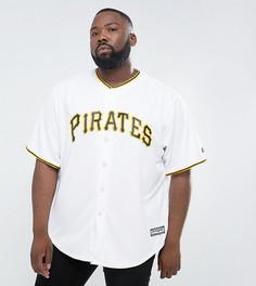 Белая футболка Majestic PLUS MLB Pittsburgh Pirates - Белый