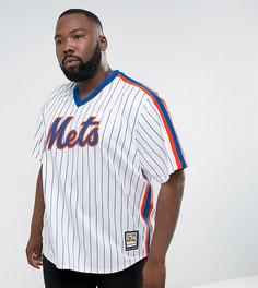 Белый трикотажный бейсбольный топ Majestic PLUS MLB New York Mets - Белый