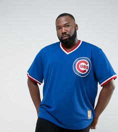 Синий трикотажный бейсбольный топ Majestic PLUS MLB Chicago Cubs - Синий