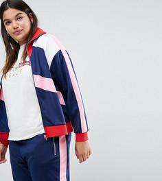 Спортивная куртка со вставками колор блок ASOS CURVE - Мульти