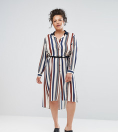 Платье-рубашка в полоску Elvi - Мульти
