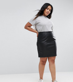 Полиуретановая юбка Elvi - Черный