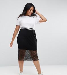 Сетчатая юбка Elvi - Черный