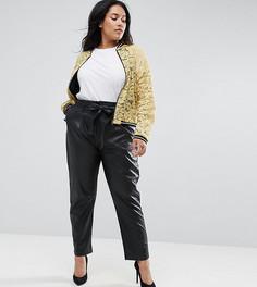 Черные полиуретановые брюки Elvi - Черный