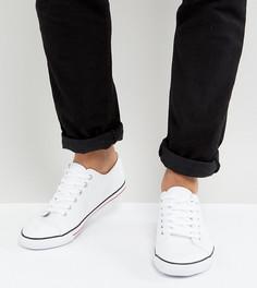 Белые кеды на шнуровке для широкой стопы ASOS - Белый