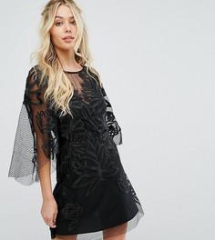 Кружевное платье мини эксклюзивно для Stevie May - Черный