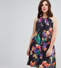 Свободное платье с цветочным принтом Pink Clove - Мульти