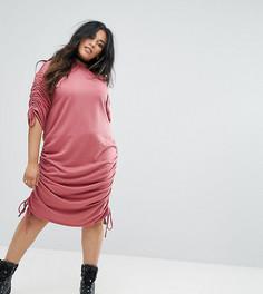 Трикотажное платье-джемпер Pink Clove - Красный
