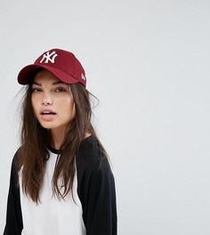 Эксклюзивная кепка ягодного цвета New Era 9Forty NY - Красный