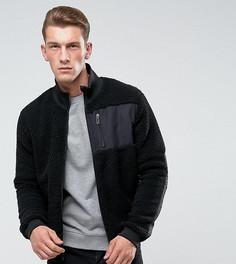 Куртка из искусственной цигейки с двусторонней молнией Only & Sons - Черный