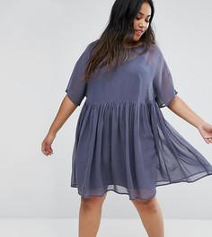 Свободное платье ASOS CURVE - Серый