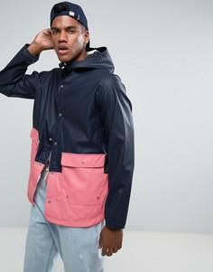 2-цветная сине-розовая непромокаемая куртка с капюшоном Herschel Forecast - Темно-синий