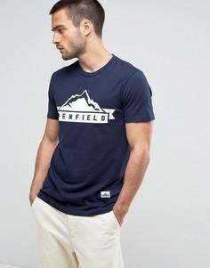 Темно-синяя футболка классического кроя с логотипом Penfield - Темно-синий