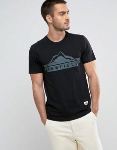 Черная футболка классического кроя с логотипом Penfield - Черный