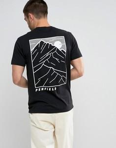 Черная футболка классического кроя с принтом на спине Penfield - Черный