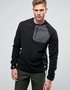 Черный флисовый свитшот Penfield Carney - Черный