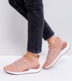 Розовые кроссовки на шнуровке Puma Pearl - Розовый