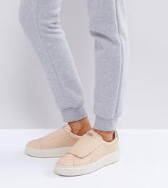 Кроссовки персикового цвета на плоской платформе с ремешками Puma Select Premium - Розовый