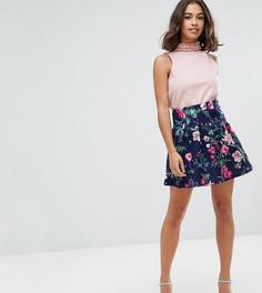 Мини-юбка с принтом ASOS PETITE - Мульти