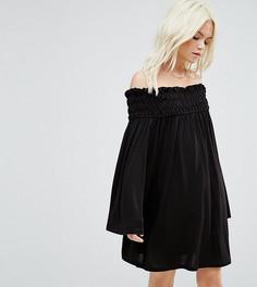Свободное платье с расклешенными рукавами ASOS PETITE - Черный