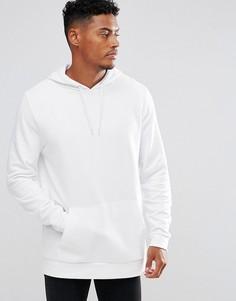 Белое удлиненное худи ASOS - Белый