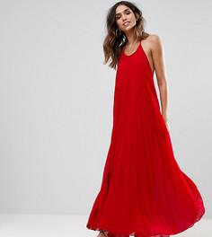 Плиссированное платье макси Missguided - Красный