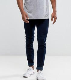 Выбеленные зауженные джинсы цвета индиго Diesel Sleenker 084KE - Темно-синий