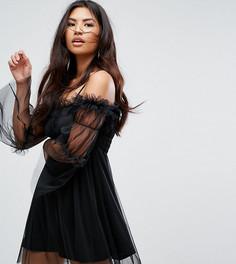 Платье из тюля с открытыми плечами Missguided - Черный