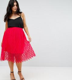 Кружевная юбка Club L Plus - Красный