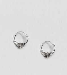 Серебряные серьги-кольца с отделкой в виде узелка ASOS - Серебряный
