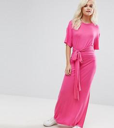 Платье макси с поясом ASOS PETITE - Розовый