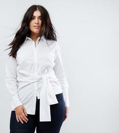 Рубашка с поясом Boohoo Plus - Белый