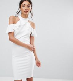 Платье-футляр с оборками City Goddess Tall - Белый