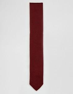 Вязаный галстук Noose & Monkey - Красный