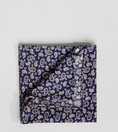 Платок для нагрудного кармана с принтом пейсли Heart & Dagger - Темно-синий