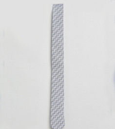 Галстук из ткани с добавлением льна и принтом Noak - Серый