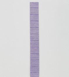 Галстук в полоску с квадратными концами Noak - Фиолетовый
