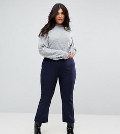 Узкие брюки клеш ASOS CURVE Tailored - Темно-синий